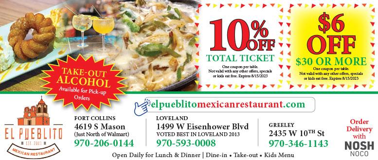 El Pueblito Mexican Restaurant Coupon Deals - Save up to $6