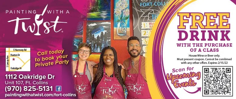 Painting with a Twist Fort Collins - Free Drink Coupon Deal