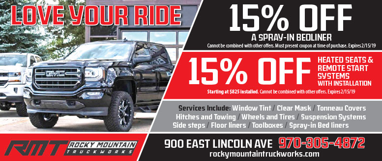 Rocky Mountain Truckworks in Fort Collins Coupon Deals - 15% Off Bedliner or Heated Seats & Remote Start Systems