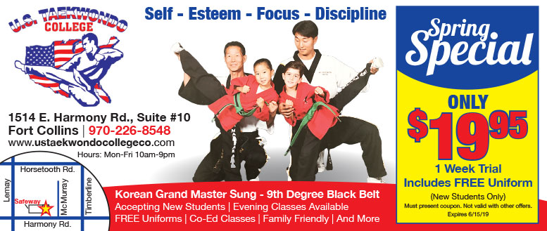 U.S. Taekwondo College in Fort Collins - $19.95 Winter Special