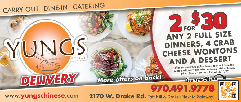 Yungs Chinese Take Out in Fort Collins - 50% Off Dinner Coupon Deal