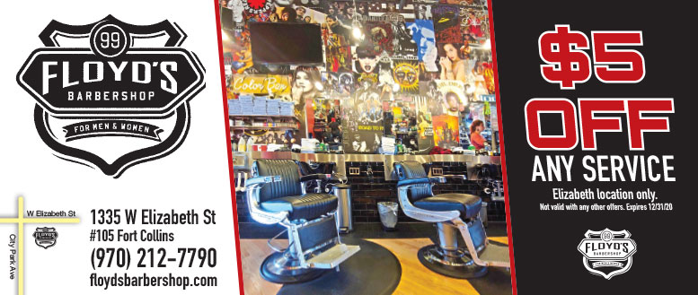 Floyd's 99 Barbershop Fort Collins $5 Off coupon deal