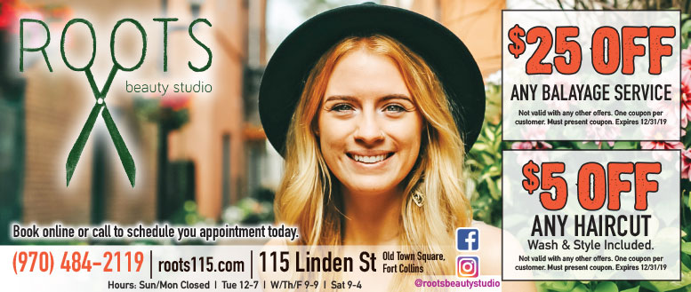 $5 Off Any Haircut & More | Roots Beauty Studio Coupons