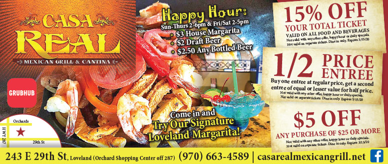 Casa Real Mexican Grill & Cantina, Loveland - Coupon Deals