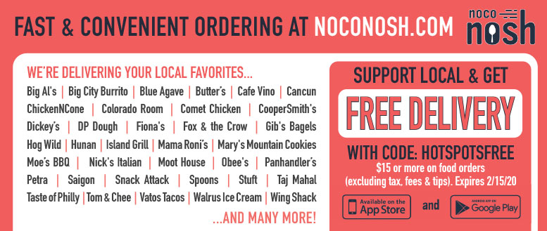 NoCo Nosh, Fort Collins - Delivering Your Favorite Local Restaurant Eats
