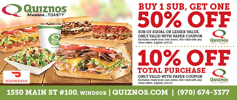 Quiznos Subs, Windsor Coupon Deals