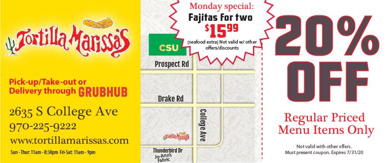 Tortilla Marissa's Mexican Restaurant - 20% Off coupon deal