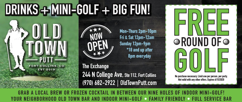 Old Town Putt, Fort Collins - Free Golf Coupon Deal