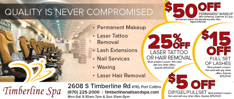 Timberline Spa, Fort Collins - Lashes, Nails, Permanent Makeup & Laser Hair Removal Coupon Deals