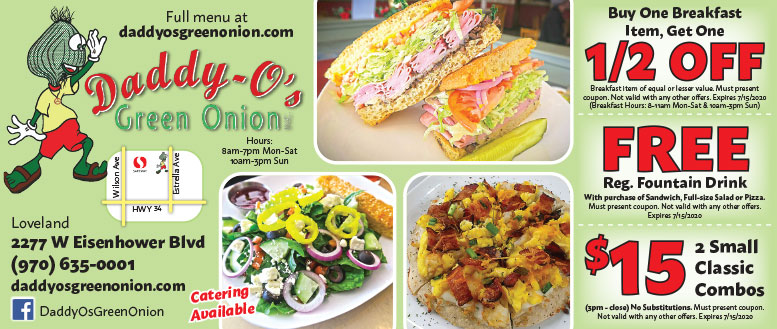 Daddy O's Green Onion, Loveland, CO - Coupon Deals
