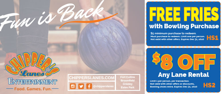 Chippers Lanes Coupon Deals in Fort Collins