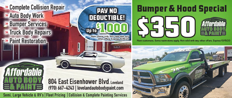 Affordable Auto Body & Paint, Loveland, CO Coupon Deals