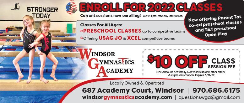 Windsor Gymnastics Academy, Windsor, CO - $10 Off Classes Coupon Deals