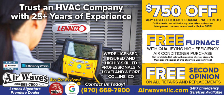 Air Waves Heating & Air Coupon Deals Fort Collins NoCo