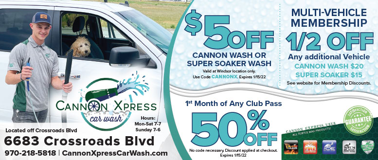 Cannon Xpress Car Wash Coupon Deals in Windsor, NoCo