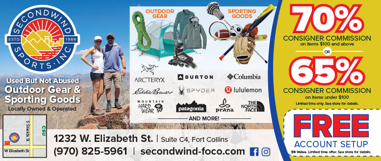 Second Wind Sports - Used Outdoor Gear & Sporting Goods Coupons