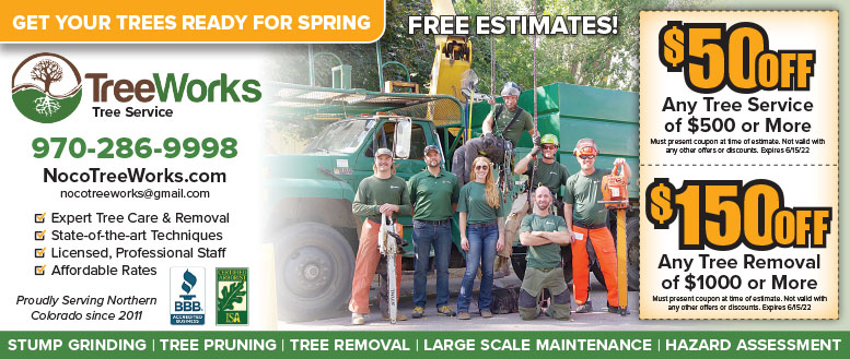 TreeWorks Tree Service Coupon Deals near Fort Collins, NoCo