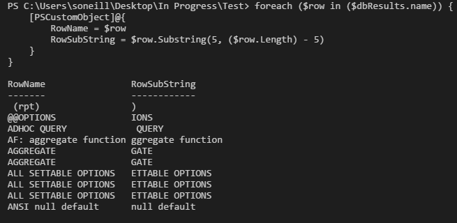 PowerShellSubstringWorks