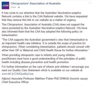 Chiropractors Association Australia, Freedom of Choice, Chiropractic Care