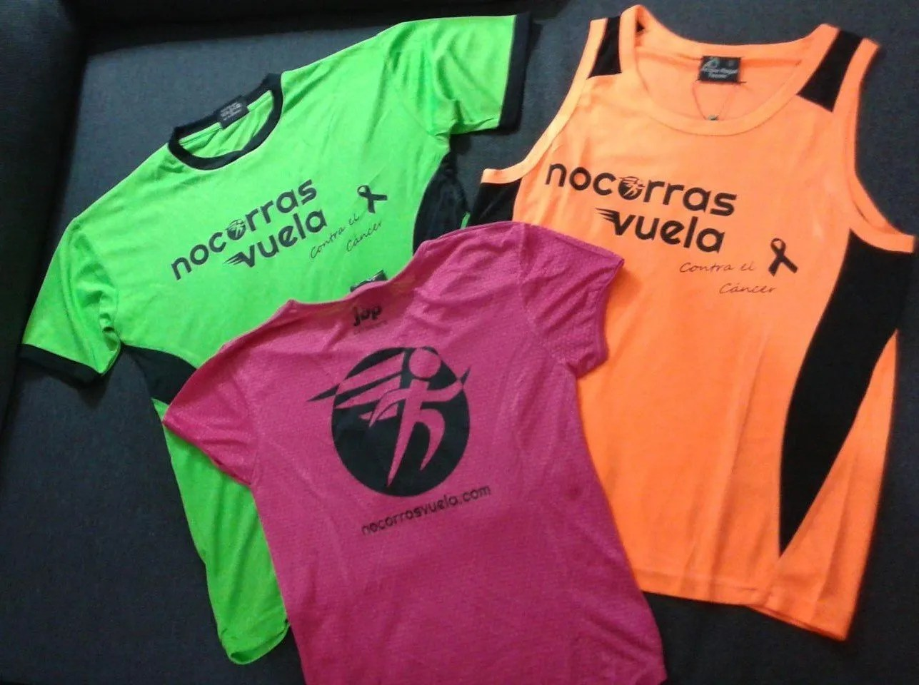 camisetas que corren contra el cancer
