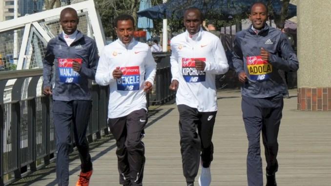 Kipchoge y bekele maratón de Londres 2020