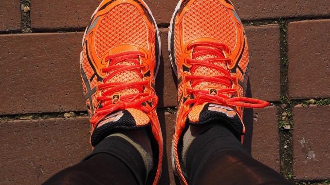 Pie plano al correr