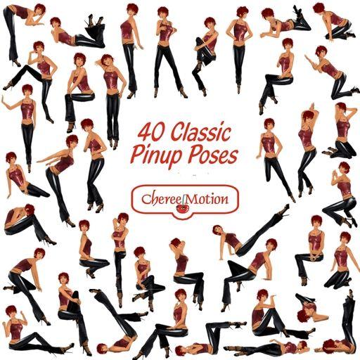 40 klasyczne pozy Pin-up - źródło Pintrest
