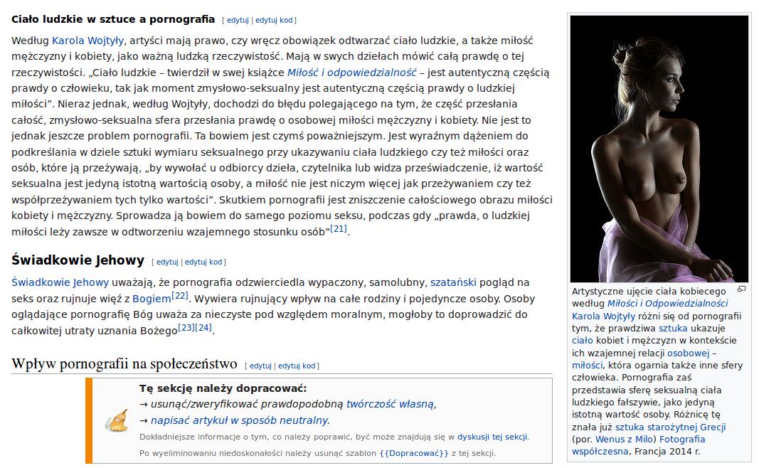 Ciało ludzkie w sztuce a pornografia - Wikipedia