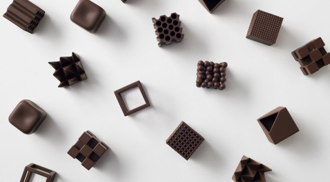 The Art of… Chocolate! Introducing 形状が味の変化を生み出す チョコレート 'Chocolatexture' by Japanese design Studio; Nendo #NoCriticsJustArtists