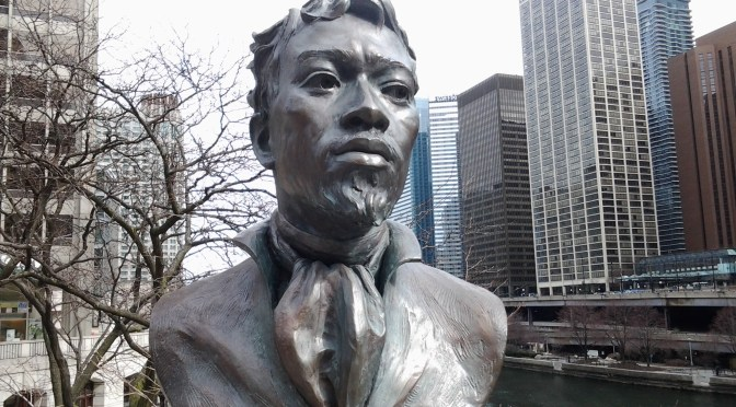 The Art of Freedom: First documented resident of US city, @chicagosmayor & Haitian native, Jean Baptiste Point du Sable #NoCriticsJustArtists