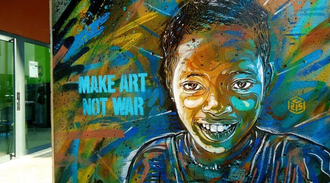Make Art* Not War:::Meet Parisian Stencil-Street Artist from Paris, Christian Guémy B.K.A #C215 #StreetArt #NoCriticsJustArtists