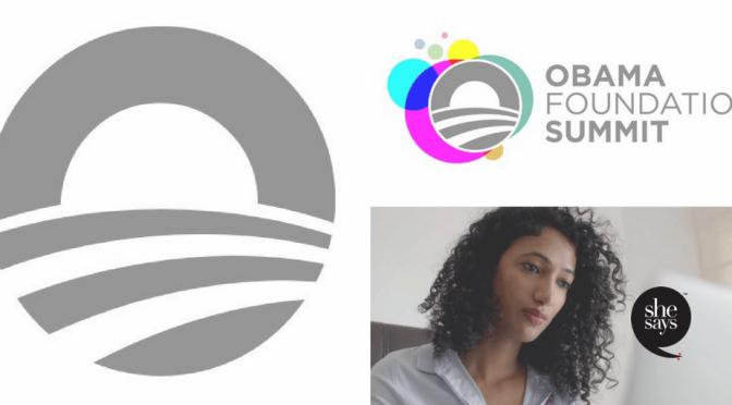 @ObamaFoundation #Summit to ft #global #civic #leaders like @TrishaBShetty of @SheSaysIndia #NoCriticsJustArtists