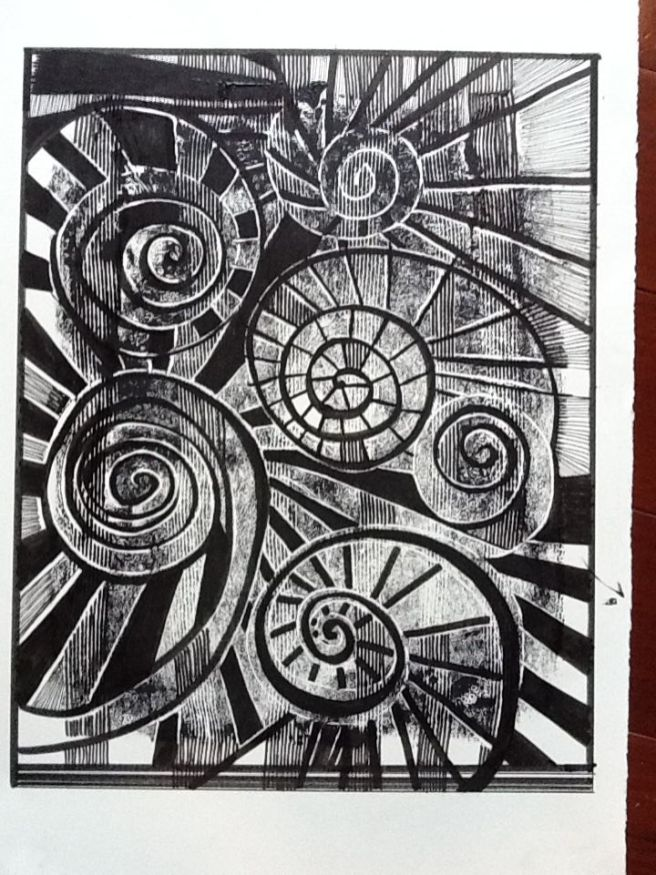 Spirals - black and white