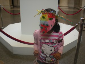 Making masks with my 6 year old. A highlight of 2012