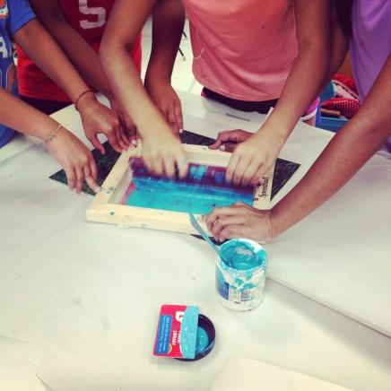 Screen printing Team work