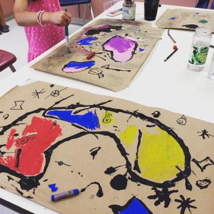 Miro inspired ink drawings