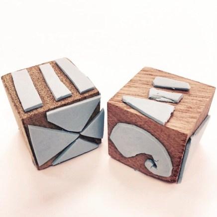 hand made printing blocks