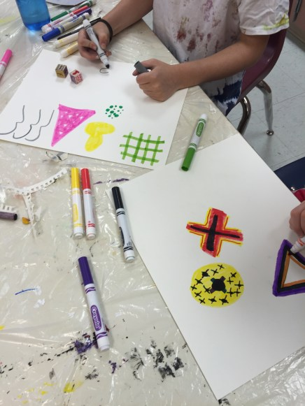 Making pictures by rolling 'art dice'