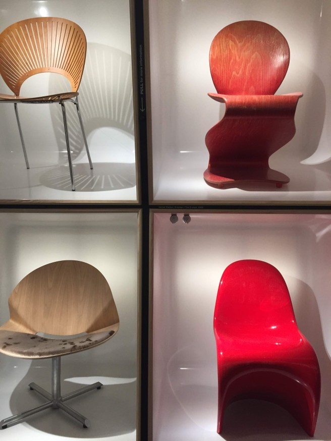 Chairs at the Design Museum