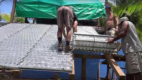 telhado plástico