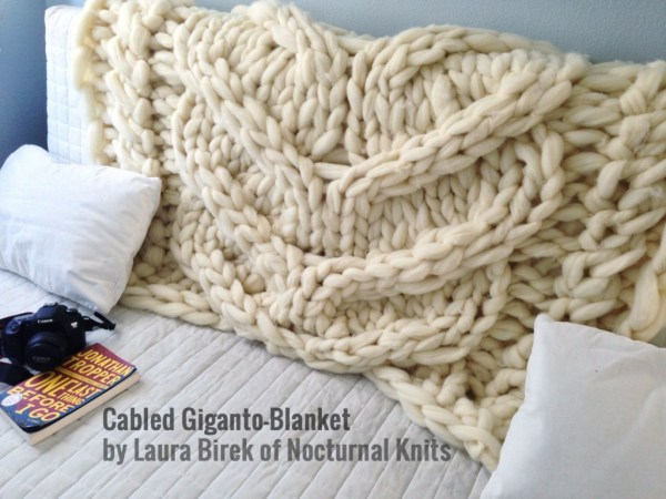 Cabled Giganto-Blanket Throw