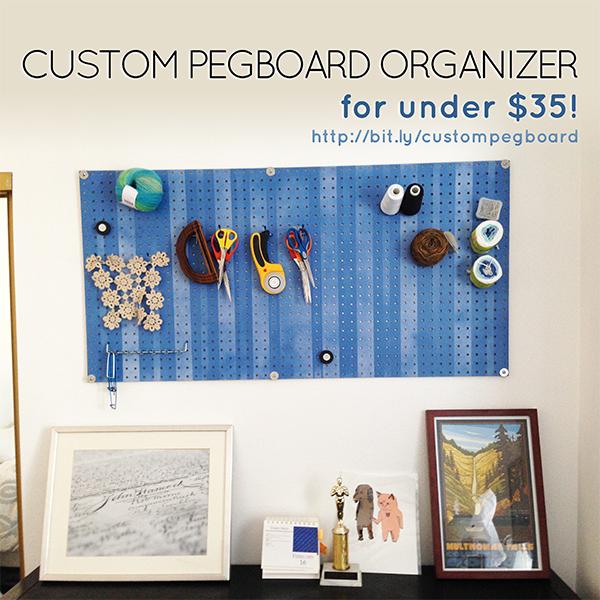 Custom Pegboard for Craft Room