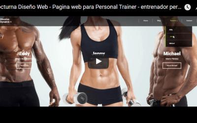 Diseño web Entrenador Personal o Personal Trainer o Gimnasio deportivo