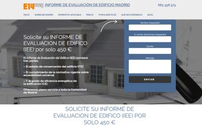 Diseño web para Informe de evaluación del edificio en Madrid