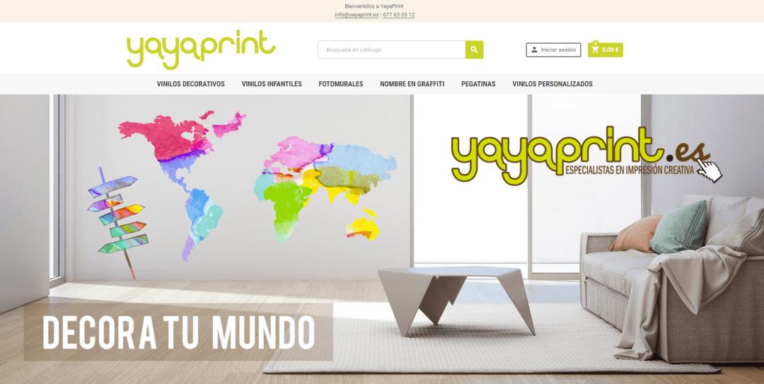 Imagen tienda online prestahop yayaprint.es versión 1.7.4