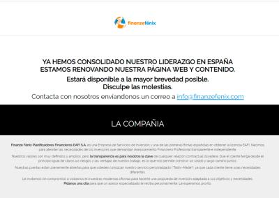 Diseño de Página Web Landing para empresa Financiera en Madrid