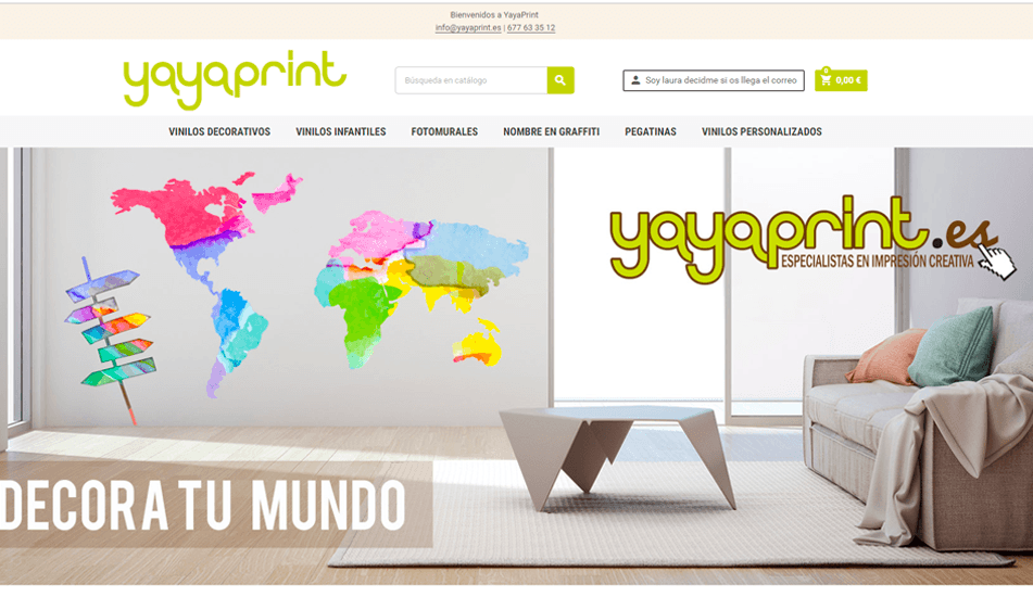 pagina web tienda online yayaprint