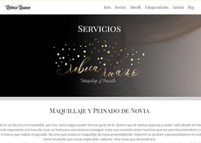 Diseño web Madrid para Maquilladora y peluquera profesional