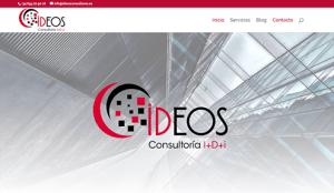 Diseño web para empresa Ideos Consultores