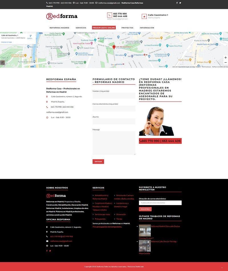 Diseño web empresa reformas redformacasa